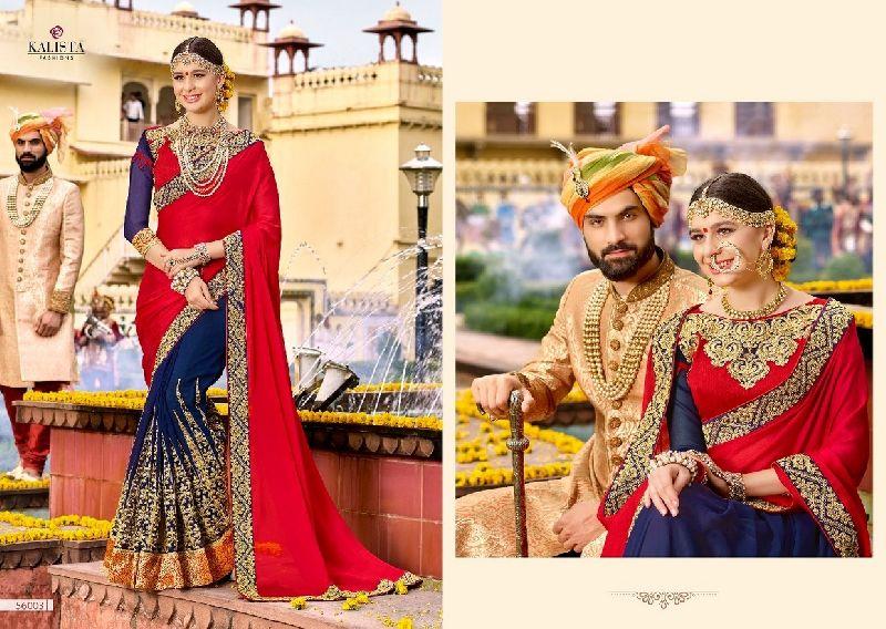56003  Kalista Nazakat Designer Saree