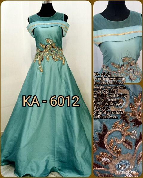 6012 KA Designer Long Gowm