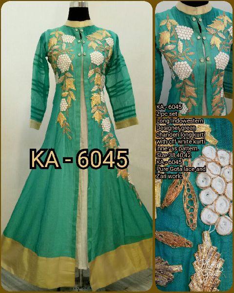 6045 KA Designer Long Gowm
