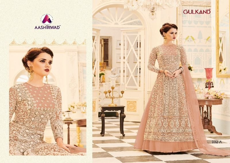 Aashirwad Veeda Premium Georgette Long Suits