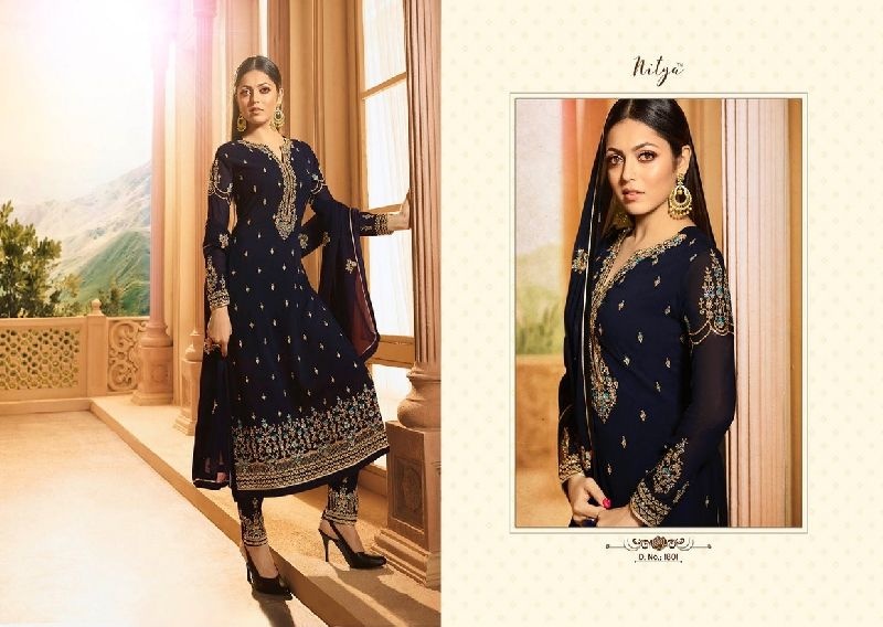 LT Nitya 118 Bottom & Dupatta Work Suit Material