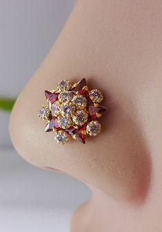 Handmade Gold Nose Pins