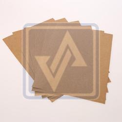 Brown Test Liner Paper Sheets