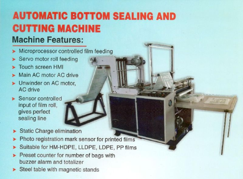Micro Processor Controlled Bottom Sealing & Cutting Machine