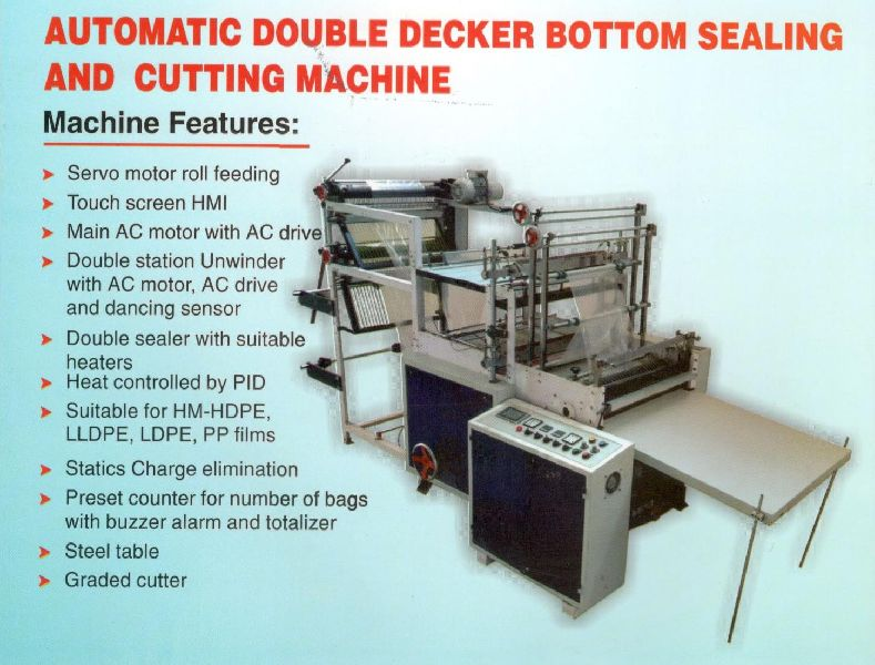 Automatic Double Decker Sealing and Cutting Machine