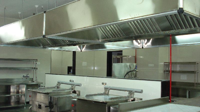 Kitchen Hoods Above Tilting Brazing Pans
