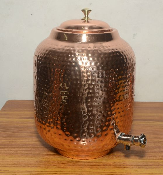Copper Water Matka With Tap