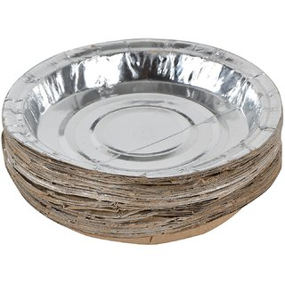 Disposable Silver Paper Thali