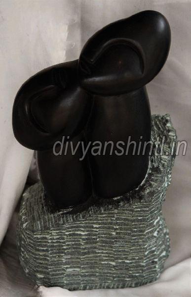 Black Stone Good Luck Statue
