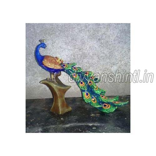Marble Dust Peacock Statue