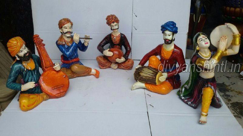 Rajasthani Musical Polyresin Statue