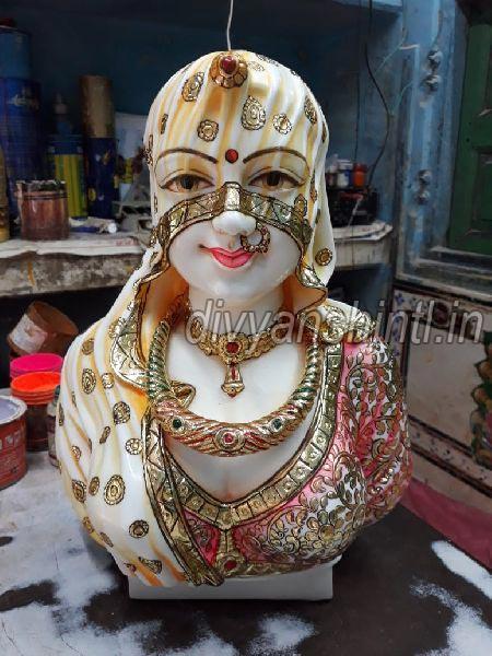 White Marble Bani Thani Statue