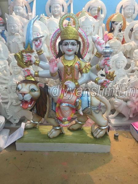 White Marble Mataji Statue