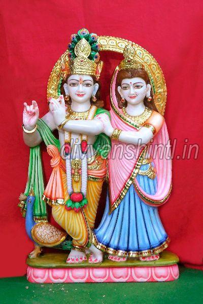 White Marble Radha Krishna Statue Manufacturer Exporter