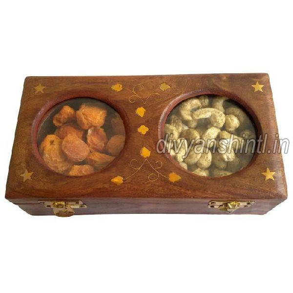 Wooden Rectangular Dry Fruit Box