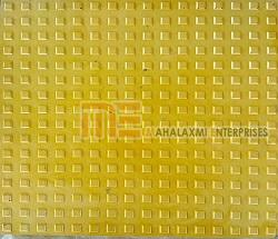 Glossy Finish Square Button Yellow Parking Tile