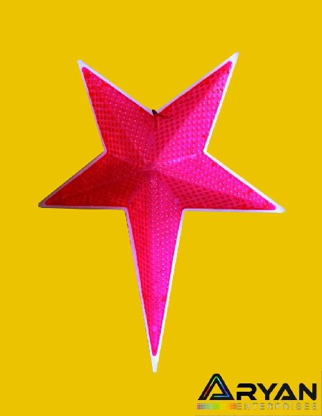 Pink Christmas Stars 02