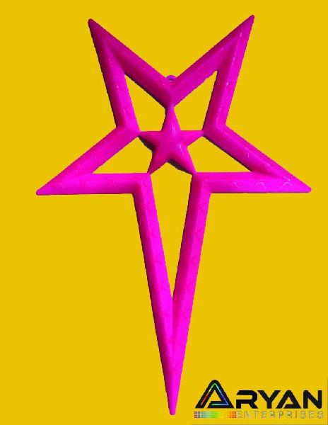 Pink Christmas Stars 03