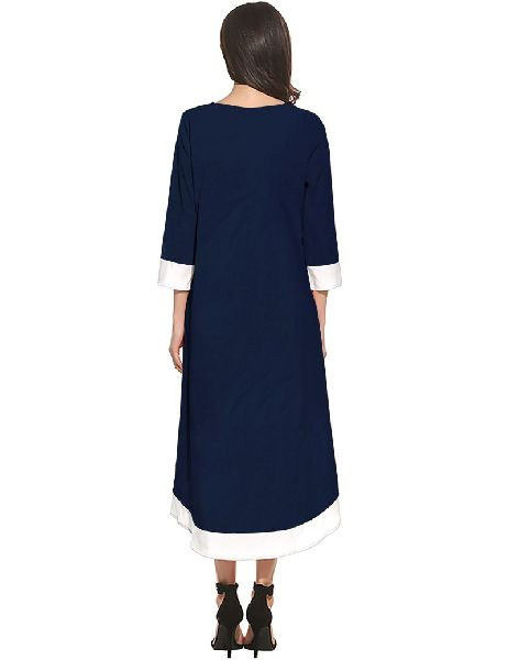 D-216 Magic Blue Western Dress04