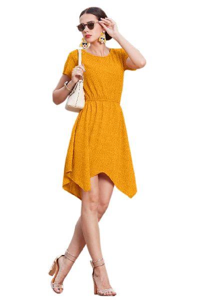 D-218 Vegash Yellow Western Dress 02