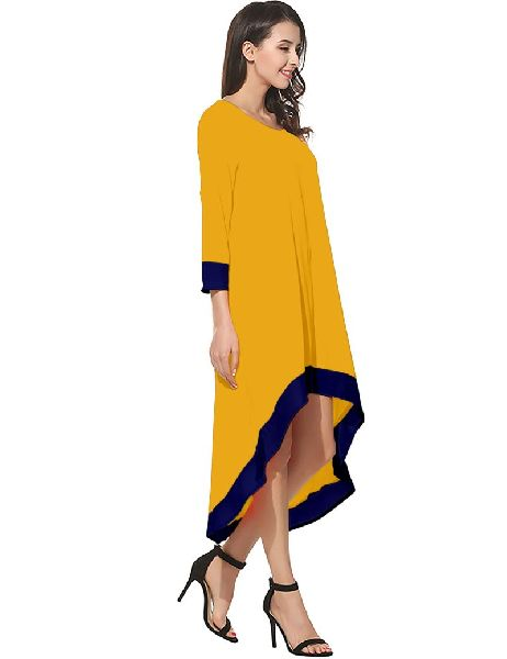 D-219 Magic Yellow Western Dress 02