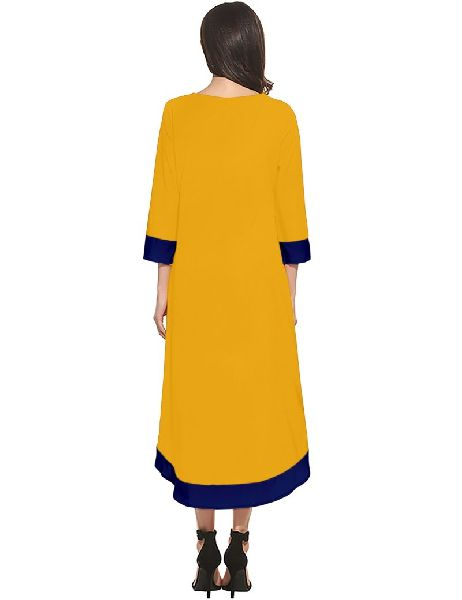 D-219 Magic Yellow Western Dress 03