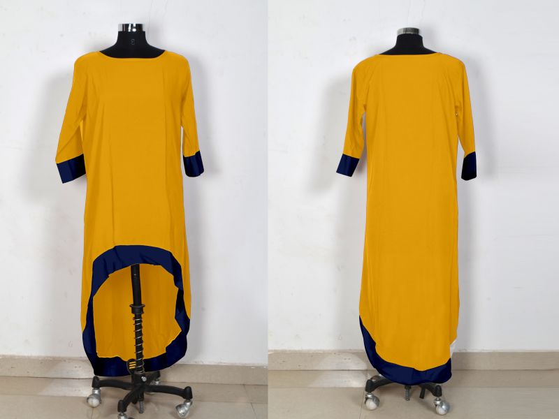 D-219 Magic Yellow Western Dress 04