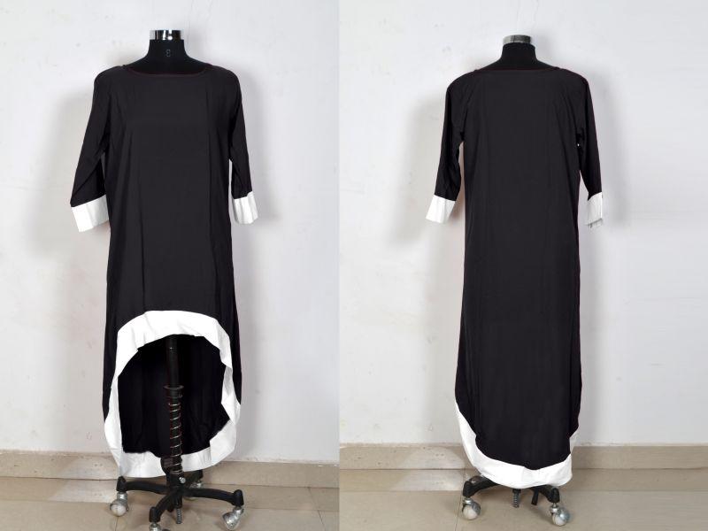 D-220 Magic Black Western Dress 05