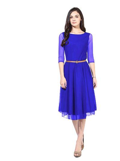 D-29 Moonlight Light Blue Western Dress 01