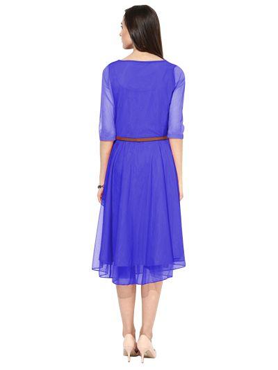 D-29 Moonlight Light Blue Western Dress 03