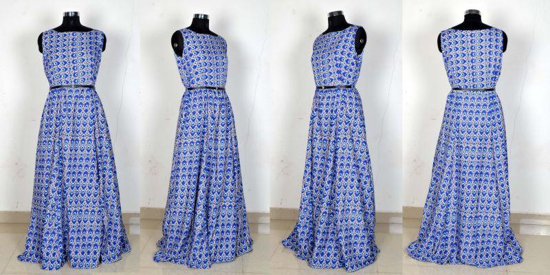 G-53 Morpichh Blue Gown 04