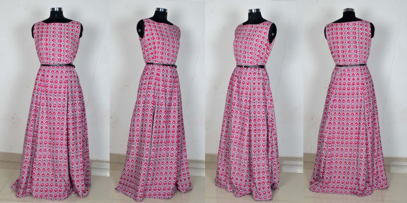 G-54 Morpichh Pink Gown 04