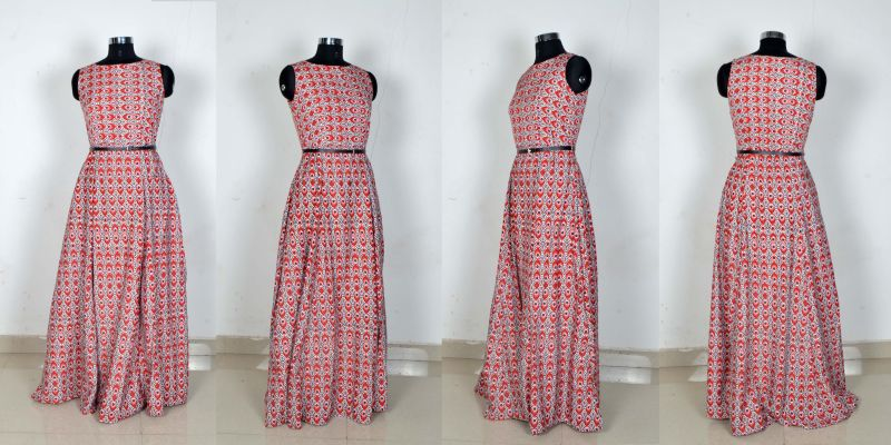 G-55 Morpichh Red Gown 02