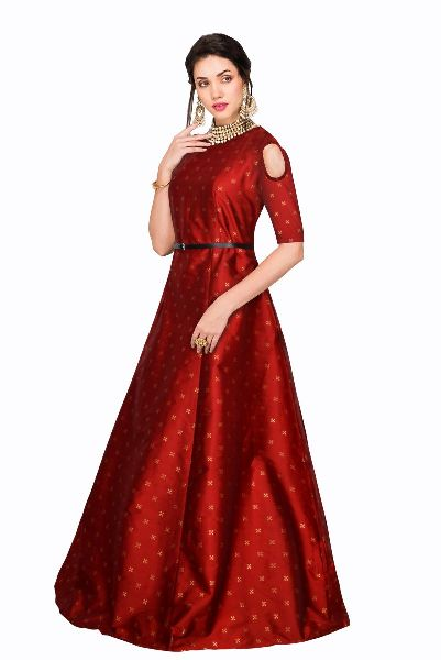 G-61 Sofia Red Gown 03