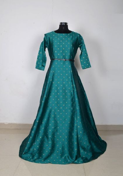 G-62 Sofia Green Gown 01