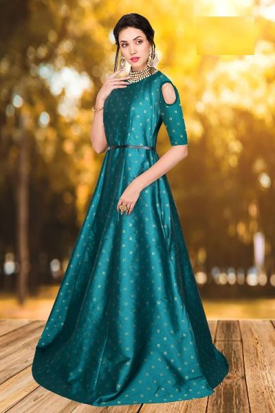 G-62 Sofia Green Gown 02
