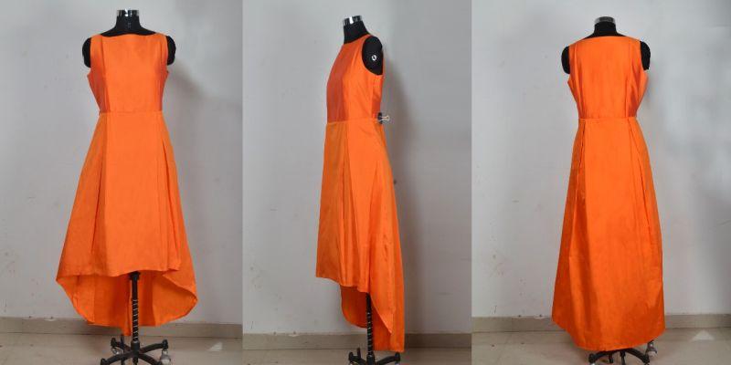 G-78 Nitya Orange Gown 02