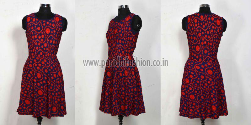 D-226 Fiza Red Western Dress 05