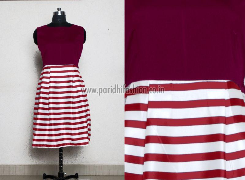 D-227 Creta Maroon Western Dress 01