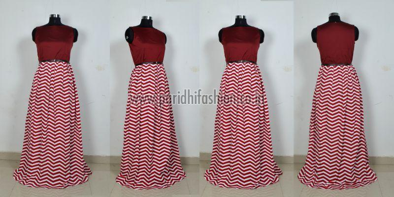 G-63 Zigzig Red Gown 03