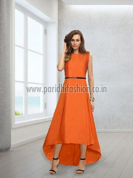 G-78 Nitya Orange Gown 01