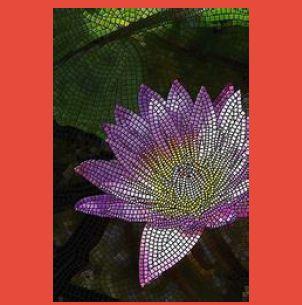 Flower Design Hand Cut Mosaic Tile