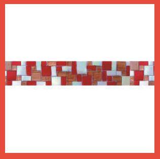 Hand Cut Border Glass Mosaic Tile