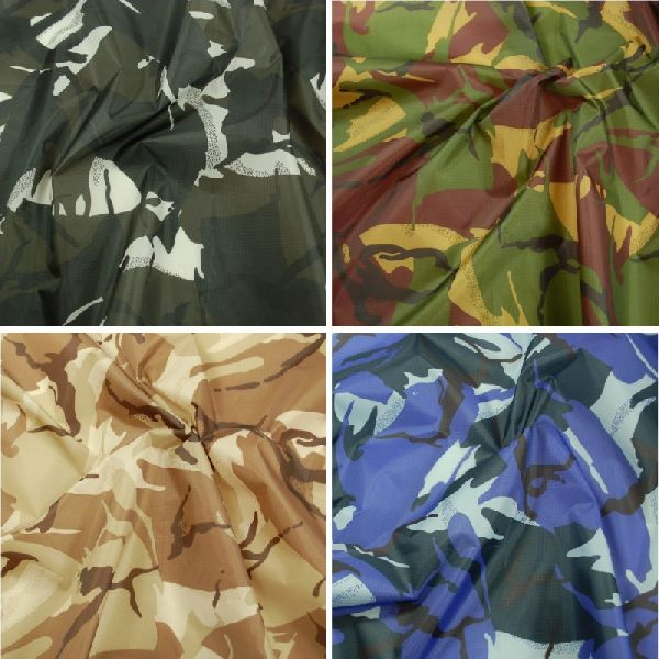 Camouflage Printed Matty Fabric