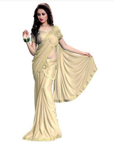 Lycra Silk Sarees
