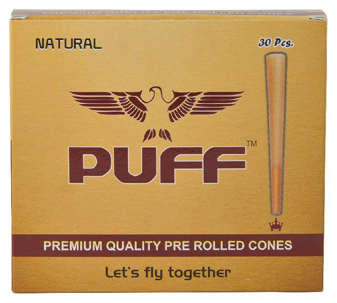 30 Pcs Natural Pre Rolled Cones