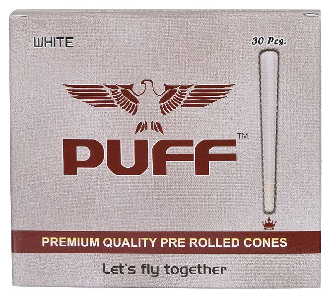 30 Pcs White Pre Rolled Cones 02