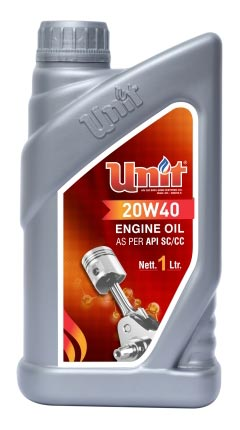 UNIT 20W40 Multi Grade Engine Oil (API SC/CC)
