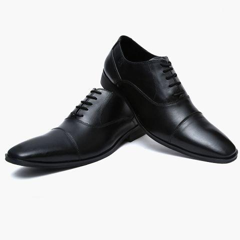Mens Black Leather Formal Shoes