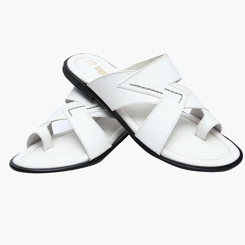 Synthetic White Formal Slipper